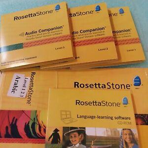 Rosetta Stone Version 3 CD-ROM  Arabic Levels 1, 2, 3 Audio Companion 2009