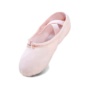 STELLE Toddler Girl's Pink Canvas Ballet Dance Slipper Shoes Size 8 MT