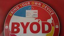 fits VERIZON  LG G6 - RED POCKET SIM Card 4G LTE Activation Kit CDMACDMA