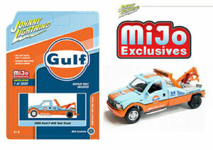 1999 FORD F-450 GULF OIL TOW TRUCK WRECKER MIJO 1/64 JOHNNY LIGHTNING JLCP7257