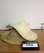 cappello beige scuro elegante cerimonia taglia unica hat cocktail donna