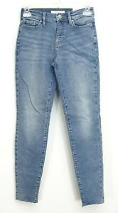 New PacSun Womens Hi Rise Val Blue Raw Hem Denim Ankle Jeggings Jeans All Sizes