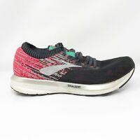 Brooks Womens Ricochet 1202821B678 Black Pink Running Shoes Lace Up Size 8 B