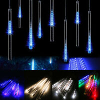 20/30cm/50cm LED Lights Meteor Shower Rain 8Tube Xmas Tree Outdoor Light US Plug