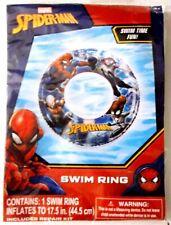 "New ! Marvel Spider-Man - 17.5"" Swim Ring Tube Float Toy - Pool Kids 3+"