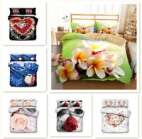 3D Print Beautiful Flowers Rose Bedding Set Duvet/Quilt/Doona Cover Pillowcase