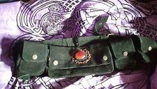 Hippie hippy boho pixie black suede bum bag utility belt