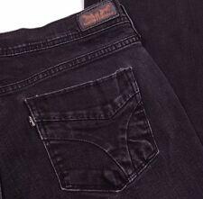Levi's 505 Straight Black Jeans Women's Measures 33 x 27.5