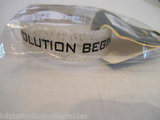 The Hunger Games Catching Fire Revolution Glitery Rubber Wristband Bracelet NEW