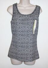 "Merona Black & White Sleeveless Pull Over Top Size S NWT Bust 36"" Length 25"""