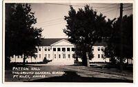 Old FT RILEY Kansas Kans Ks Real Photo RPPC Postcard PATTON HALL General School