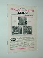 ZEISS IKON présentation PROXAR DISTAR photo photographie