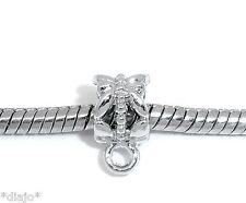 Dangel anhängeröse 10 unidades color Antik plata bricolaje cadenas remolque joyas #