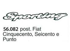 Scritta post. Fiat Cinquecento, Seicento e Punto Sporting 56.082