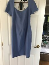 BNWT Bastyan Lavender Blue Pencil Dress Size12