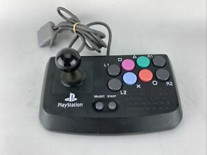 Hori Compact Joystick Controller PS1 PS2 Playstation Arcade Fight Stick Black