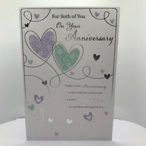 On Your Anniversary card With love to a special couple colour inside