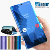 For Samsung Galaxy Note 9 Note 8 Smart View Mirror Leather Flip Stand Case Cover