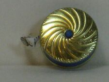 Tape Measure, Swirl Design, Push Button, Gold/Silver/Blue, West Germany, Marked!