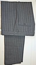 RALPH LAUREN (Made in Italy) FAB DESIGNER PINSTRIPE GREY SUIT/WORK TROUSERS W35L