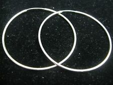 HOOP EARRINGS LARGE ABOUT 2 INCHES SIZE IN SOLID STERLING SILVER!