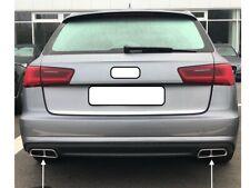 Top Links + Rechts Chrom Edelstahl Auspuffblende Abdeckung Audi A6 4G5 C7 Avant