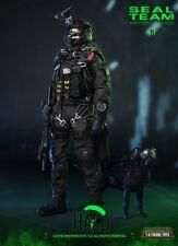 Juguetes de los tiempos de Mini M013 1/6 Us Navy Seal Team B Halo Con Perro Juguetes Figura Colección