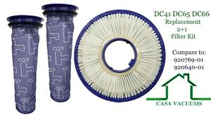 HEPA Post + 2 Pre  Replacement Filters For Dyson DC41 DC65 Animal Vacuum Cleaner