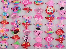 NT 10pc Style Wholesale Lots Jewelry Mixed Children Polymer Clay Rings Free Ship