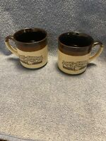 Hardee's Rise and Shine Homemade Biscuits Coffee Cups Mugs 10 0z 1986 Set of 2