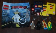 LEGO LOT OF 5 Keychains  *NEW* 853571, 853794, 850996, 853603, 5004915