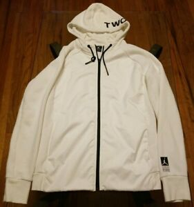 Air Jordan Mens White Hoodie Jacket Size Medium
