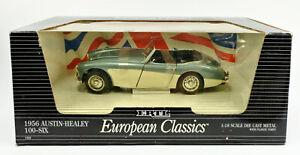 ERTL 1/18 SCALE 7459 DIE CAST BLUE/CREAM 1956 AUSTIN HEALEY 100-SIX
