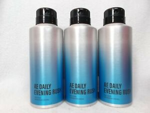 3 AEO American Eagle AE Daily Evening Rush Body Spray Fragrance Mist NEW