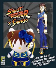 Hello Kitty Street Fighter Chun Li plush - NEW SDCC Exclusive Limited to 1000