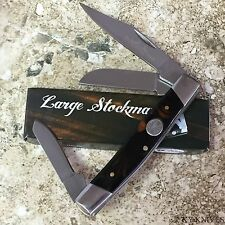 "2 lot Grand Dads Large Stockman 3 Blade Pocket Knife. 4"" Closed 210971-BK-2"
