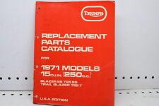 1971 TRIUMPH T25SS/T25 T REPLACEMENT PARTS CATALOGUE (SSM)