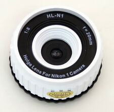 USD - Holga lens HL-N1 WHITE for Nikon 1 Series Digital Cameras