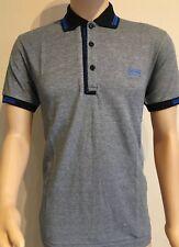 Men's Hugo Boss Short Sleeve Polo Shirt Grey Size-Medium RRP £75