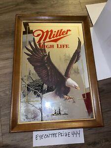 "Vintage Miller High Life Mirror Sign Advertisement 15""x22"" Wildlife Series 7958"