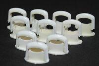 10 Stück alte Kabelklemmen Size XS weiß Kabelschelle Rasterschelle Feuchtraum