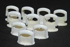 10 Stück alte Kabelklemmen Size S weiß Kabelschelle Rasterschelle Feuchtraum