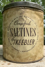 Vintage  SALTINE Crackers 1940s Tin by KEEBLER Saltine Crackers RARE  Container