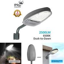 24W Yard Lighting Street Area Lights Dusk to Dawn Sensor Waterproof Security LED