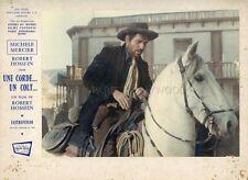 ROBERT HOSSEIN  UNE CORDE  UN COLT 1969 VINTAGE LOBBY CARD ORIGINAL