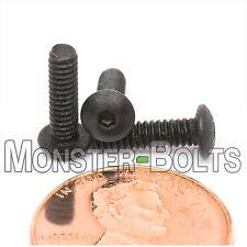 "#4-40 x 7/16"" - Qty 10 - BUTTON HEAD Socket Cap Screws  Alloy Steel Black Oxide"