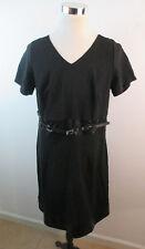 NWT Torrid Black Short Sleeve Pleather Accent Dress Sz 16 Little Black Dress