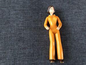 """Vintage Tonka Orange Jumpsuit Woman Action Figure 5"""""""