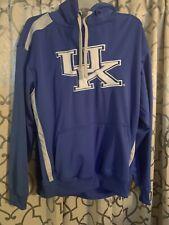 university of kentucky Hooded Pocket Mens Sweatshirt Blue White Big Logo SZ L