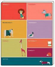 Planificador semanal artfile Frank Salchicha Perro-Práctico Planner Pad-útil idea de regalo